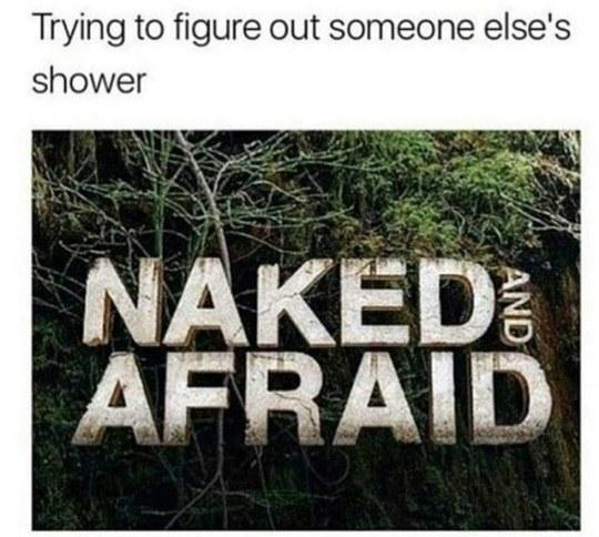 The shower struggle: