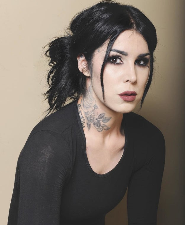 She's the wonderful and talented Mexican-American tattoo artist and owner of her own cosmetics line: Kat Von D.