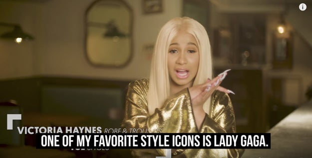 She then revealed who her favorite style icon is, which, you guessed it, is Gaga: