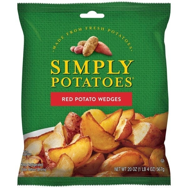 The Red Potato Wedges and Diced Potatoes with Onion varieties are vegan.