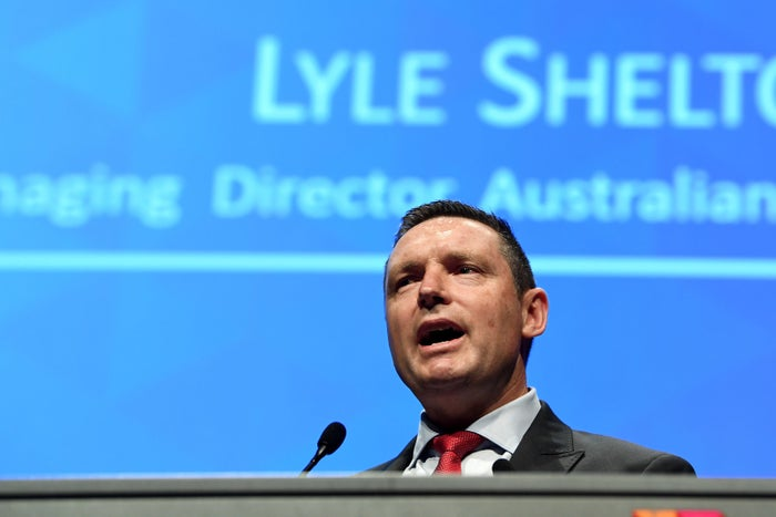 Lyle Shelton speaks at a Coalition for Marriage event in Melbourne.