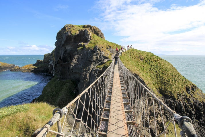 This slightly terrifying rope bridge in Northern Ireland gives you an epic view of the crystal bluey-green water and caves below. Hot tip: If you're afraid of heights, don't look down.