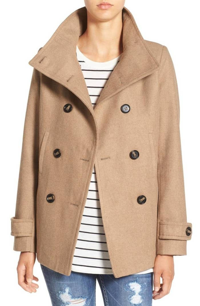 "Promising review: ""This is a great basic peacoat! It goes with everything, and can be worn day or night. The camel color is very classy, and the style is great."" —crzymomof3Price: $37.90 (originally $58) / Sizes: XS-XL / Available in seven colors."