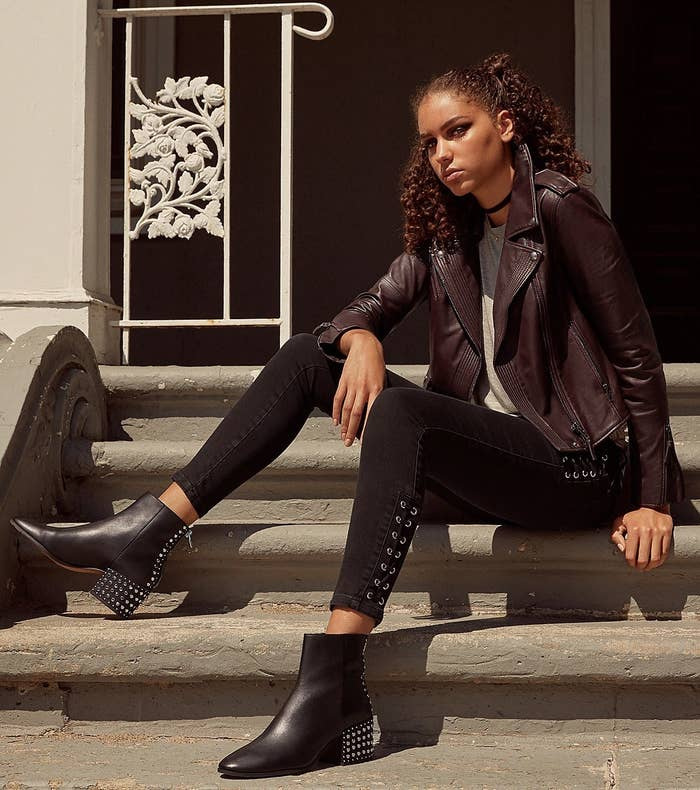 """Promising review: """"I love these boots. I bought them in black. I have skinny legs and was happy they were not too big around the ankle. A nice, stylish boot addition for the fall."""" —FashionseekerGet them from Amazon for $179.95+ or from Bloomingdale's for $180 (available in sizes 6-10 and two colors)."""