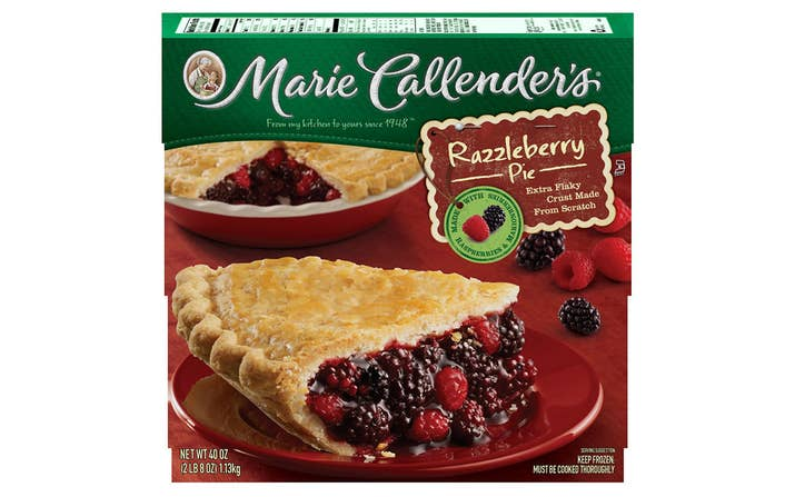 All of the frozen fruit pies are vegan except Pumpkin and Southern Pecan.