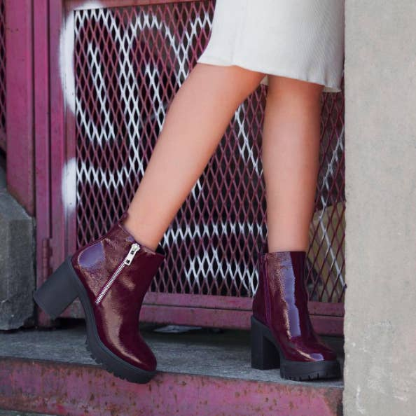 32. Chunky leather booties to take on rough urban streets like it's  nobody's business.