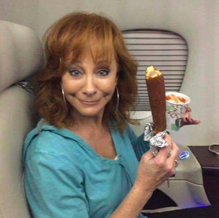 That time she posted a picture of a huge corn dog and a cup of ketchup.