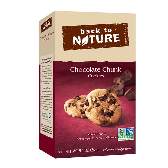 Back to Nature's California Lemon and Chocolate Chunk cookies and Chocolate Delight granola are vegan.