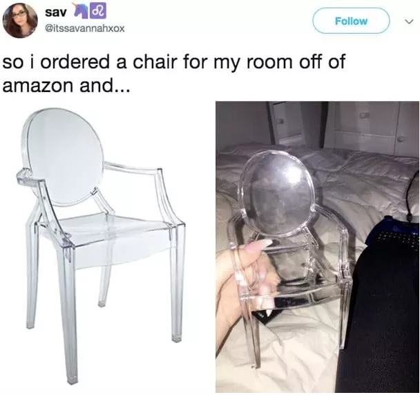 And at least you didn't order a chair made for ANTS: