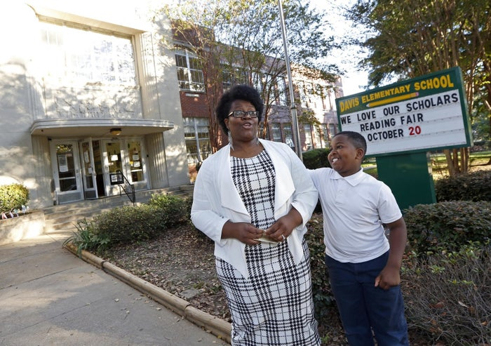 PTA president Janelle Jefferson and her son, Jacob Jefferson.