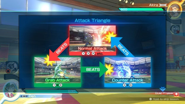 3. The Attack Triangle is an easy-to-follow but hard-to-execute endless cycle of grabs and counters.