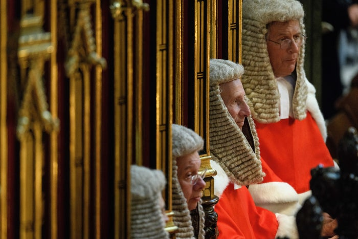 High Court judges attend a service at Westminster Abbey to mark the start of the legal year on 2 October.
