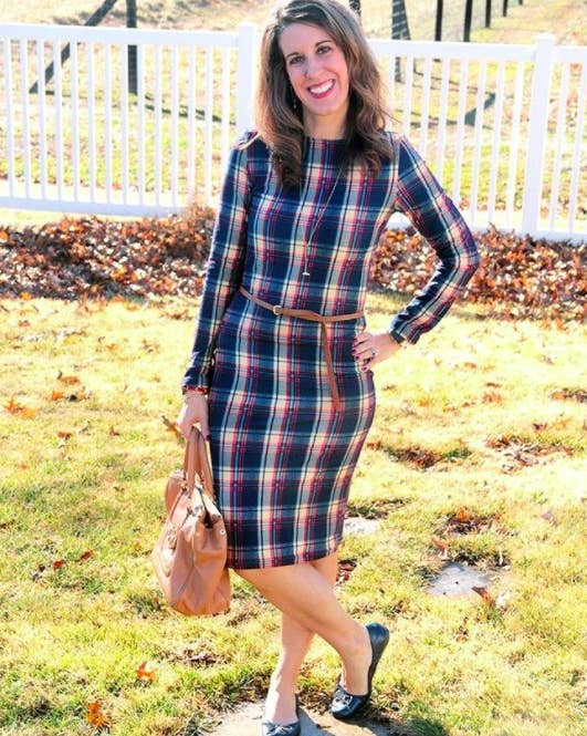 """Promising Review: """"When I received this dress, I was really pleased with the quality! The plaid is a nice print, and not too busy. The dress also has a lining, so it isn't thin or see-through. This dress is perfect for layering several different ways – with a blazer, tall boots, or a pretty statement necklace."""" —Carrie APrice: $11.99+ Sizes: XS–XL Colors: five"""