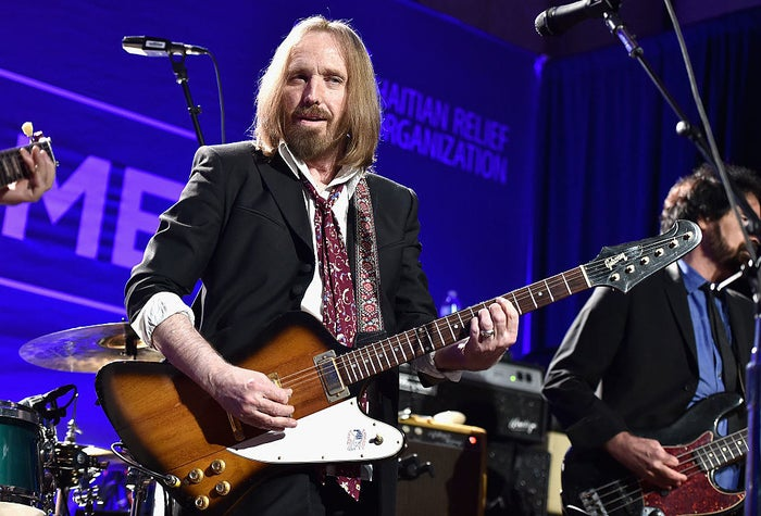 Tom Petty performs in Beverly Hills, California, Jan. 9, 2016.