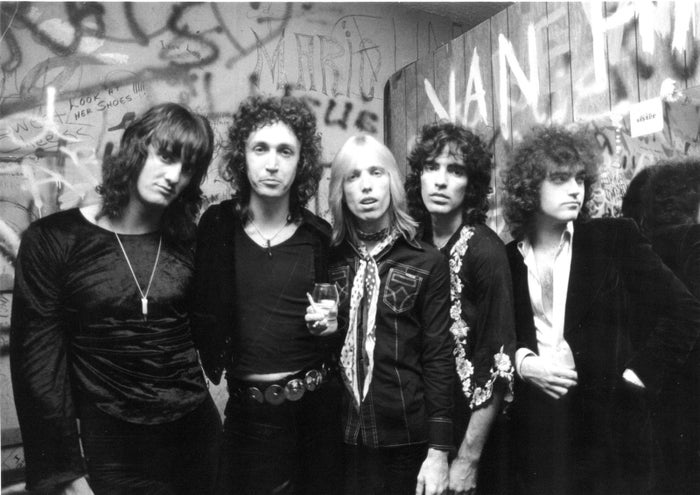 Tom Petty and the Heartbreakers wait backstage before performing at the Whisky a Go Go in Los Angeles in 1977.