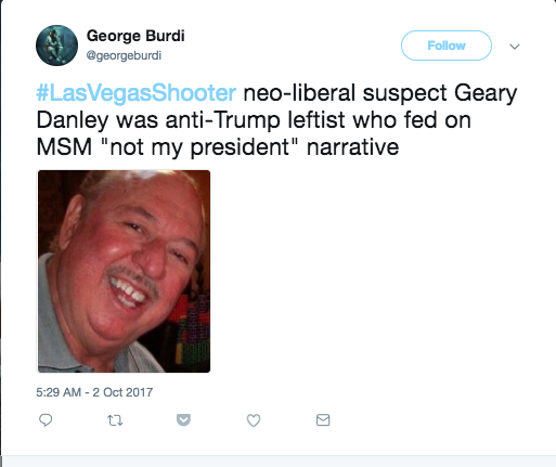 Right-wing websites ID Las Vegas shooter as Geary Danley, the wrong guy