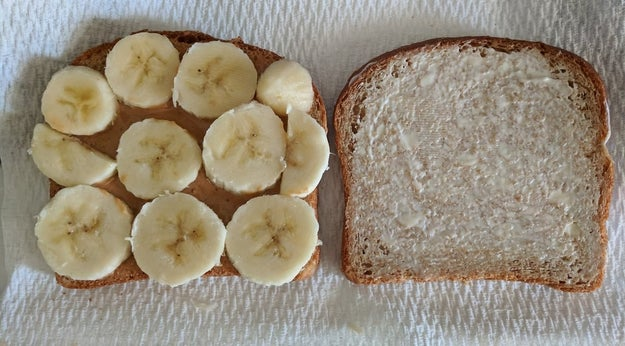 """Peanut butter, mayonaise, and banana sandwiches."""