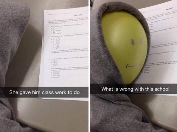 He was a good student.