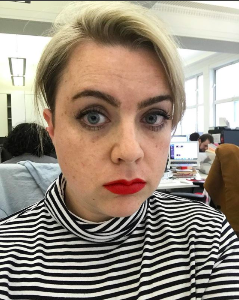 """As I sit next to our Beauty Writer – Tolani – I'm lucky to often get first dibs on any new beauty launches. So when Buxom – the new launch from the team behind Shiseido – landed on my desk, I swiped on """"Wildfire"""" (a matte red) and carried on with my day. But I got so many compliments that I stuck it in my handbag for an event that night. It continued to live in my handbag all week (high praise!) and it's become my go-to for when my face is exhausted and I want to look perky again. As it's a matte, it's a little drying, but nothing some lip balm prep (I'm using Dr Lipps' Miracle Balm) can't handle. It's really long-lasting, and the edges are sharp enough that you can use it as a lipliner too. Get it at Debenhams, £15, or in the US from Sephora for $22."""