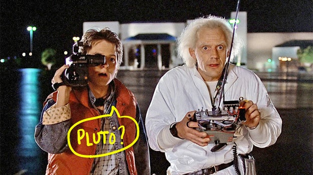 """Back to the Future was originally going to be called """"Spaceman from Pluto""""."""