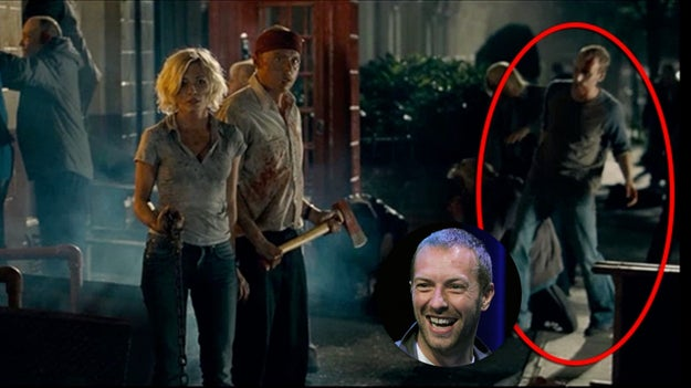 Chris Martin from Coldplay played a zombie in Shaun of the Dead.
