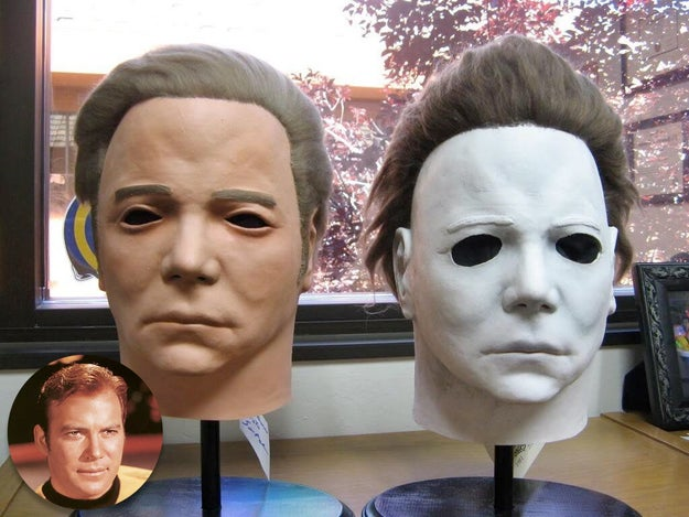 Michael Myers' mask in Halloween was a captain Kirk mask painted white.