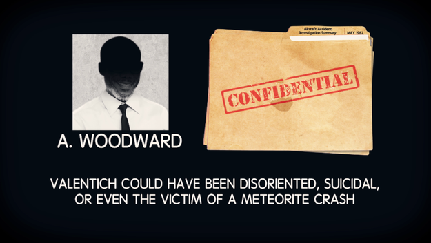 The man who signed off on the report, A. Woodward offered a range of unverified theories: