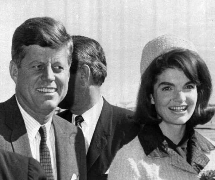 President John F. Kennedy and his wife, Jacqueline, arrive at Dallas Love Field, Nov. 22, 1963, the day he was assassinated.