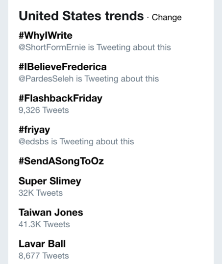 """By Friday morning, """"Taiwan Jones"""" became a national trending topic on Twitter."""