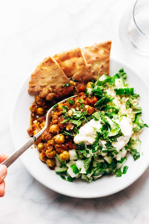 Moroccan Chickpea Bowl