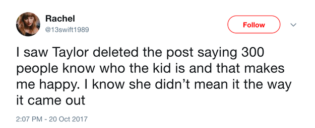 And after she deleted the post, they became convinced the comment had been made in jest.