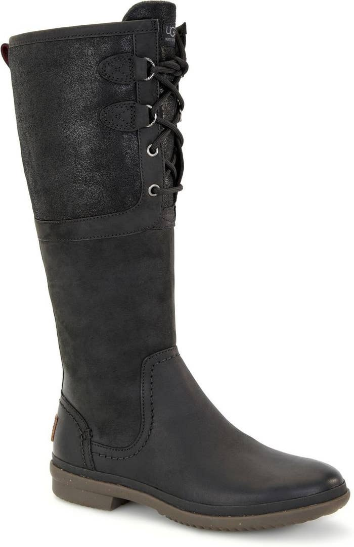 946f9fd38018 Waterproof leather Ugg boots perfect for the transition from fall to  winter. They re outfitted with a rubber sole for durable traction and a  cushioned ...