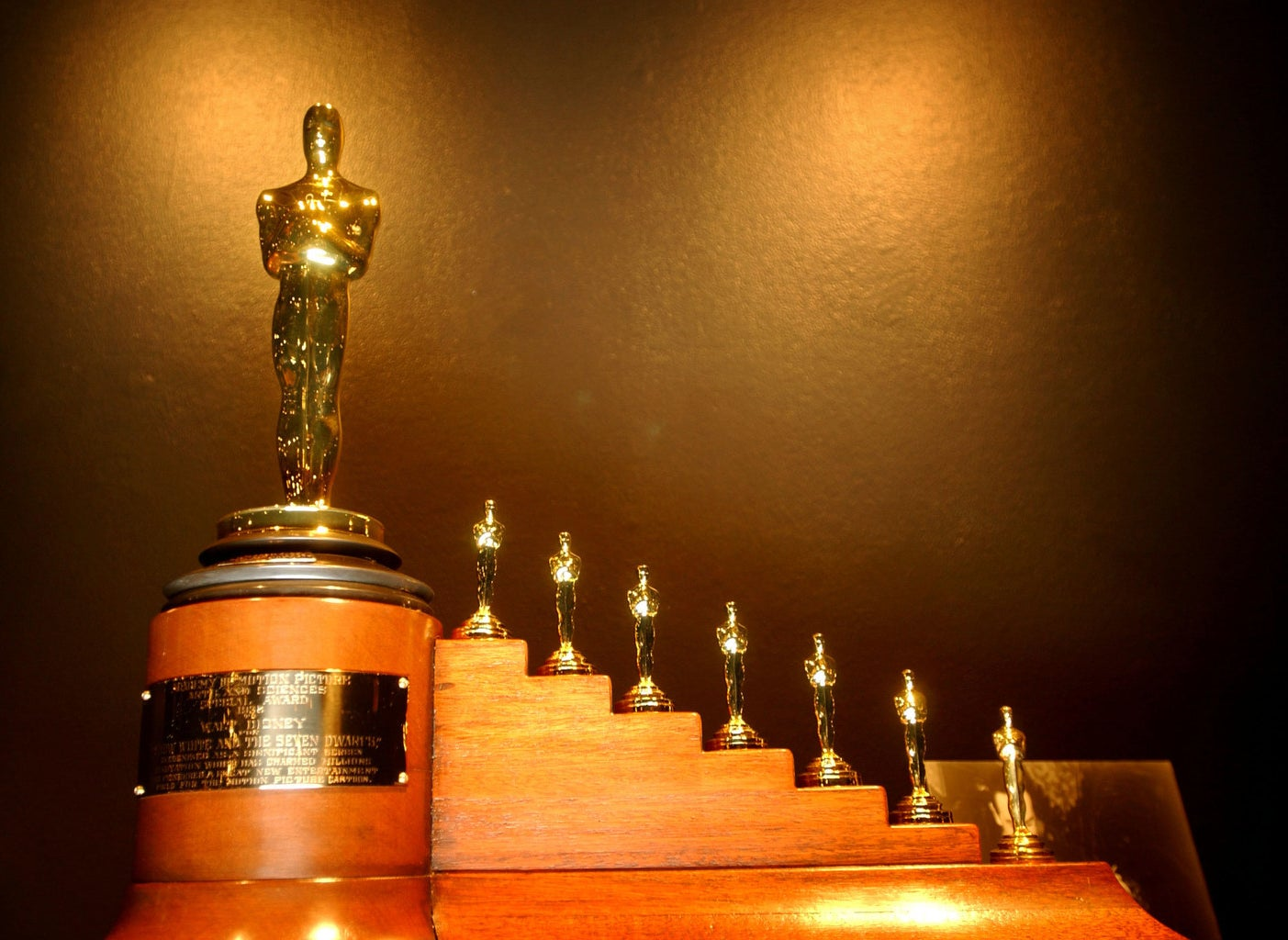 Disney's Oscar for Snow White and the Seven Dwarfs came with seven dwarf-sized Oscar statues.