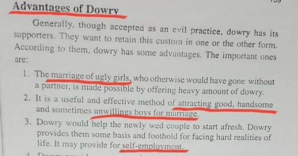 advantages of dowry