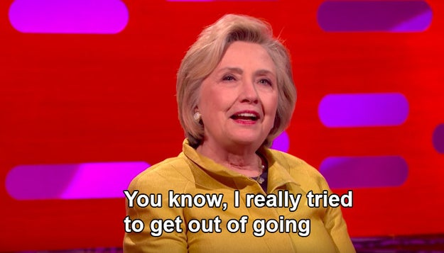 Clinton was obligated by tradition to attend, not because she was the opposing nominee, but because she was a former first lady. And...well, she really didn't want to go.