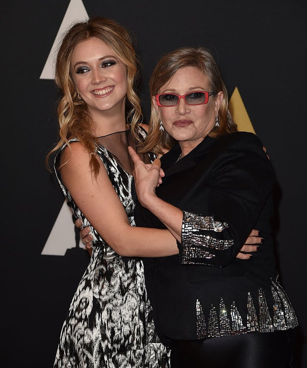 To honor Carrie, her daughter Billie Lourd posted two sweet photos.