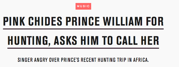 When she wrote a letter to Prince William, urging him to stop hunting.