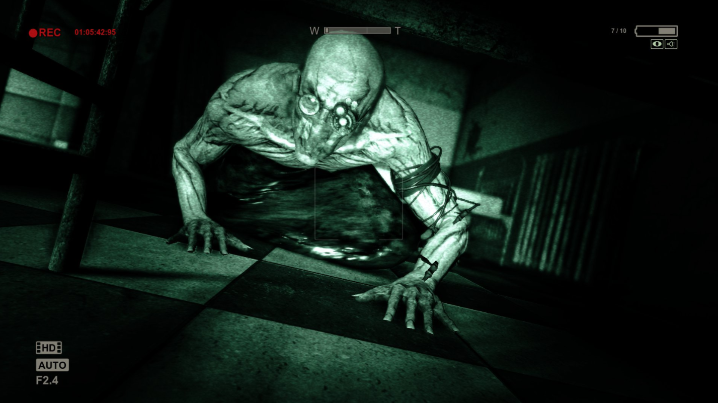 Why it's scary: In Outlast, you're an investigative journalist entering into an insane asylum armed with nothing more than your wits and a night vision camera. Unlike most games, you cannot engage in combat and instead have to run or hide to avoid the terrors lurking in the dark. Just be careful to use your camera carefully – the batteries don't last very long.Scare rating: 💀💀💀💀 /5Available on: PC, PS4, and Xbox One.