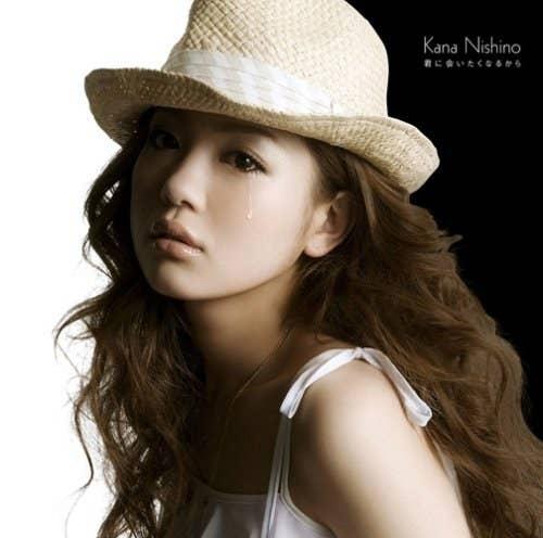 ラブソング界の女王、西野カナさんも右目から涙を流しています。歌詞も恋人との別れを歌っているようです。