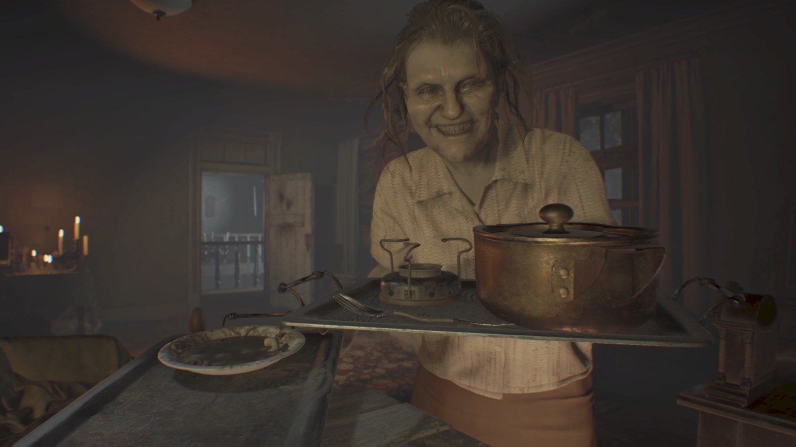 Why it's scary: Set in a nightmarish vision of rural Louisiana, Resident Evil 7: Biohazard follows the story of Ethan Winters stumbling onto a seemingly abandoned plantation while searching for his missing wife, Mia. What he discovers however, is a psychopathic family called the Bakers who imprison him in their mansion infected with the