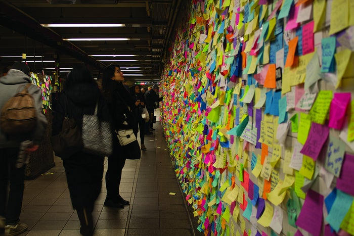 Sticky notes then began to pop up in other cities across the country, including Boston, San Francisco, Philadelphia, Seattle, and Washington, DC.