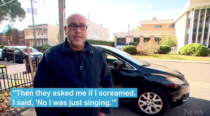 According to CTV, Moalla was driving along singing the '90s chart-topper in September when he heard sirens behind him. When he pulled over, four (!) police officers came up and asked if he'd been screaming. No, he said, just singing along.