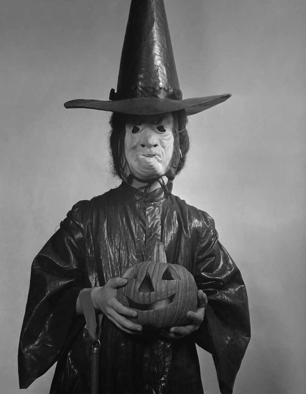 No, you're totally calm looking at this old timey child wearing an old timey witch costume.