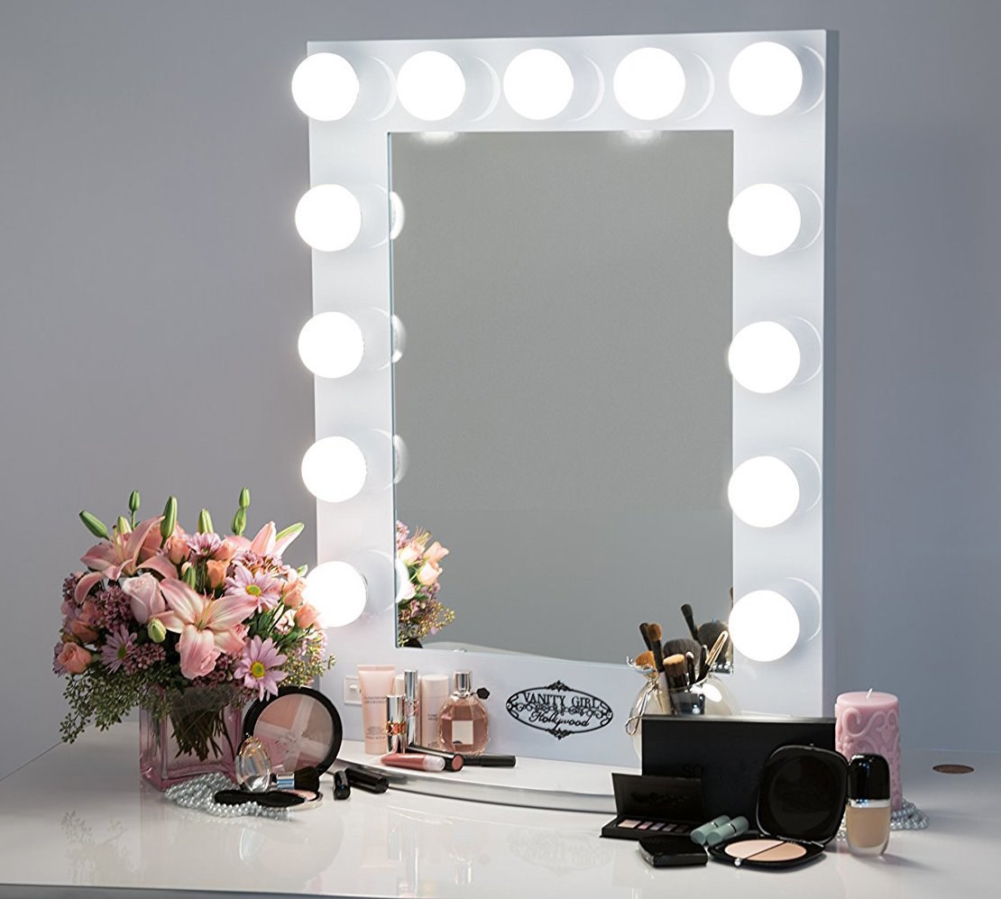 chende hollywood makeup vanity mirror with light tabletops l