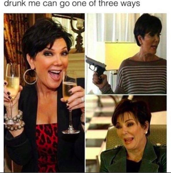 On drinking: