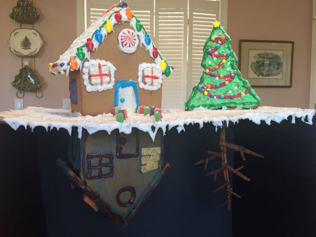 The gingerbread house that's as terrifying as it is tasty.