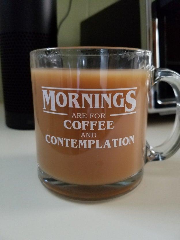 Hopper's favourite coffee mug.