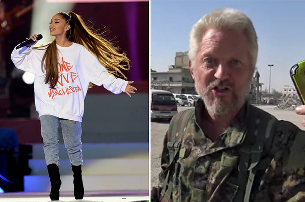 A British Actor Played Ariana Grande On His Phone In A Former ISIS-Held City