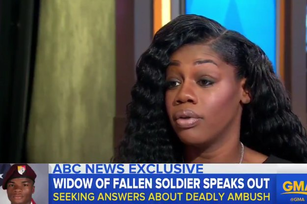 """The Widow Of A Fallen Soldier Said Trump's Phone Call Made Her """"Very, Very Upset And Hurt"""""""