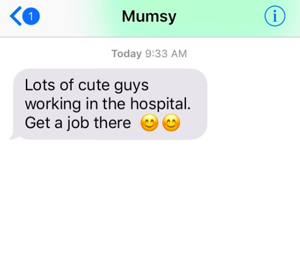 This mom, who has some life advice to pass on.